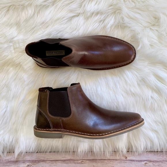 dbb593de64e Steve Madden Impass Chelsea Dark Brown Mid Boots